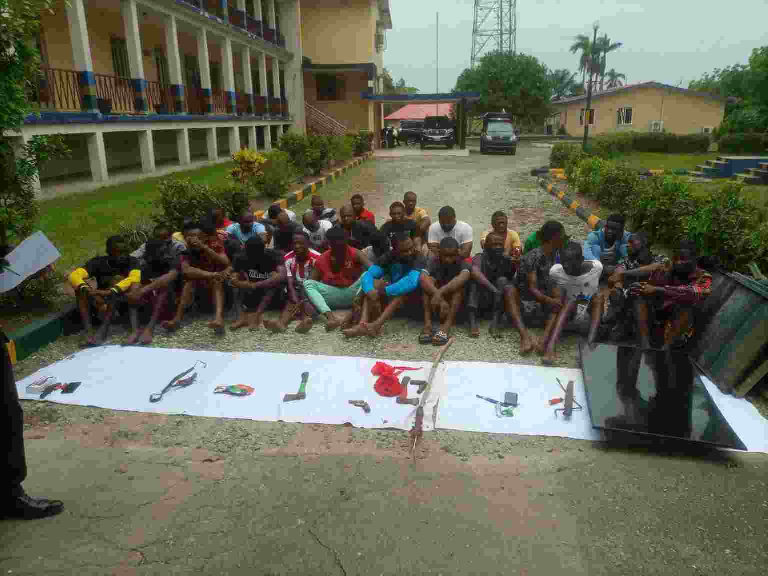 Police Parades 34 suspects, recovers Weapons in Cross River