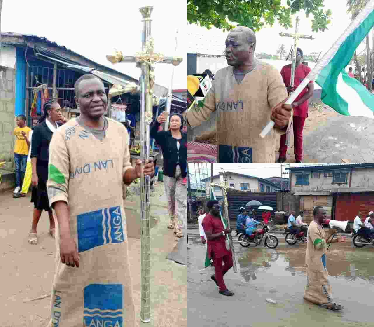 'Wrath of God will Fall on you soon' - Archbishop dresses on Sack cloth to Warn Buhari and Others