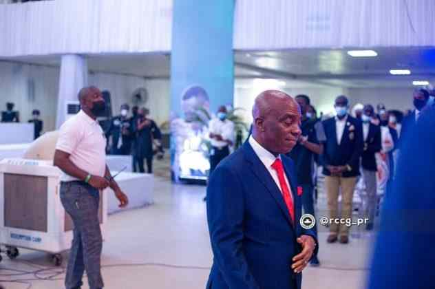Bishop Oyedepo, Others Attend The Burial of Dare Adeboye (Photos)
