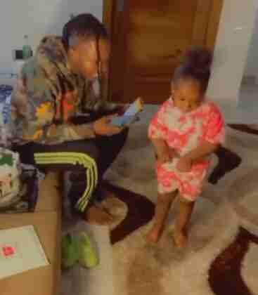 Exciting Moment Naira Marley Met 4-year-old Girl Who Went Viral After Dancing His Song (Video)