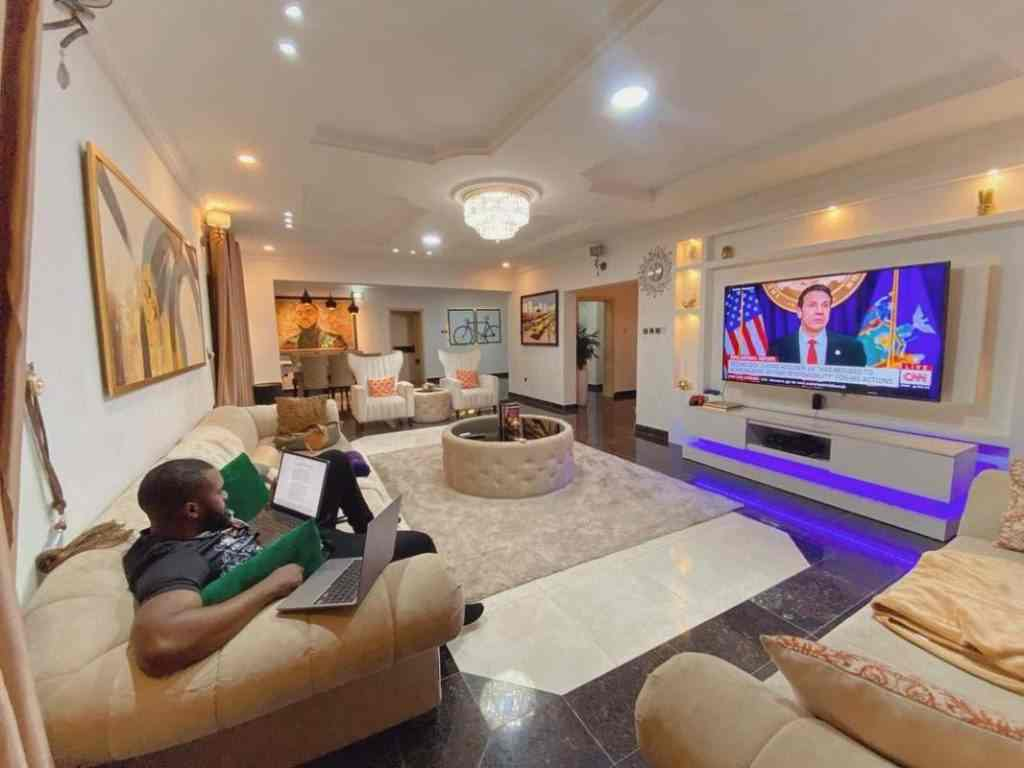 Actor, Williams Uchemba shows off interior of his living room