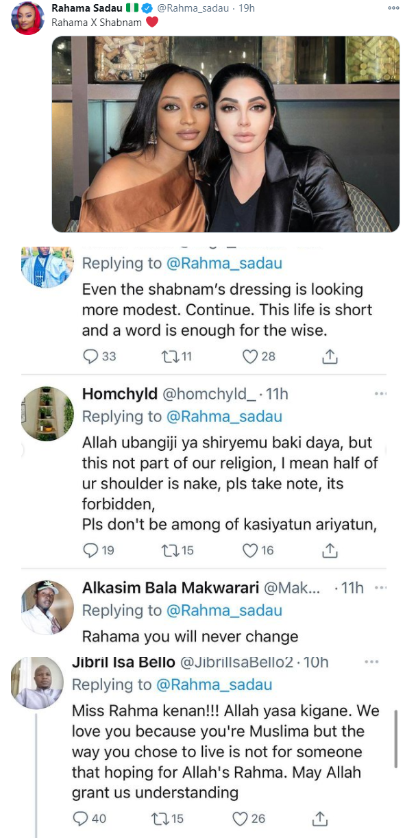 Actress Rahama Sadau called out again by Muslims for 'showing off her skin' in new photo