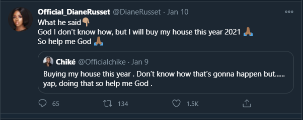 BBNaija's Diane Russet Declares Intention to Buy a House This Year