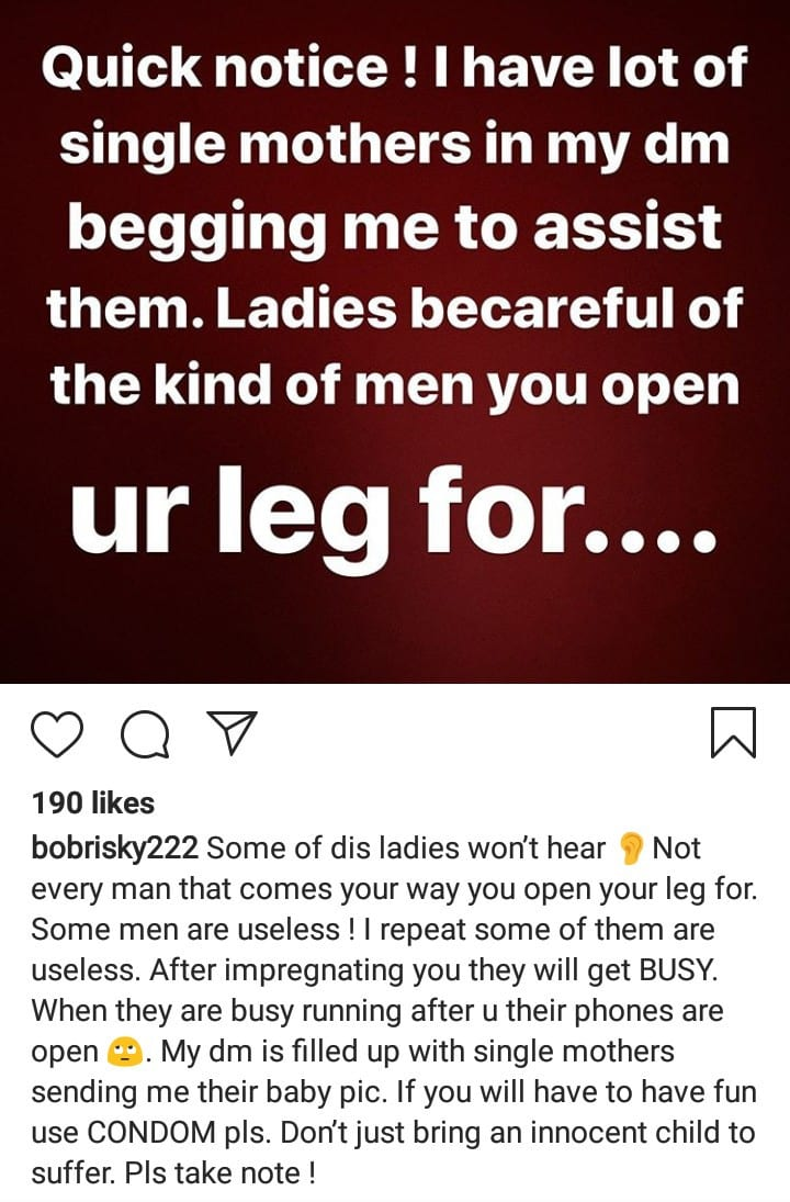 Bobrisky Reacts to Single Mothers Begging him for Money