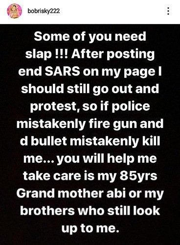 Bobrisky Reveals Why He Did Not Join #EndSARS Protest