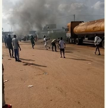 EndSARS: Protesters Play Football On Benin Express Road (Photos)