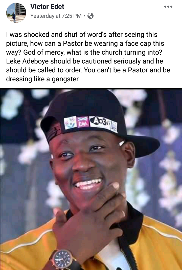 Evangelist calls out Pastor Adeboye's Son, Leke for Dressing like a Gangster