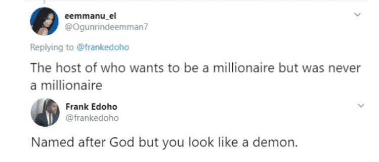 Frank Edoho Savagely replies a Troll who Mocked him on Twitter