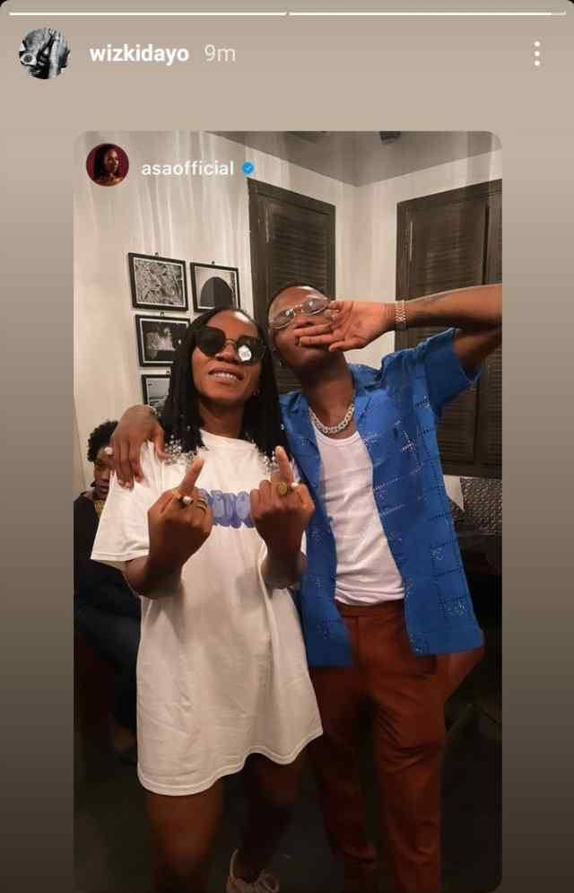 Hours after his Grammy win, Wizkid hangs out with singer Asa