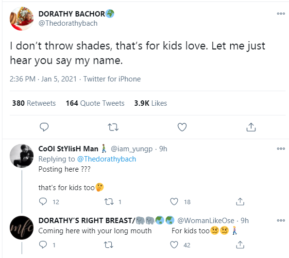 I Don't Throw Shades, That's For Kids – BBNaija's Dorathy Shares Cryptic Post