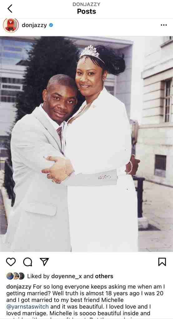 I got Married 18 Years ago - Don Jazzy makes shocking Revelation