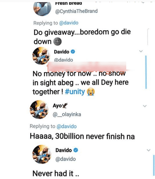 'I Have never Had 30 Billion' - Davido Confessed