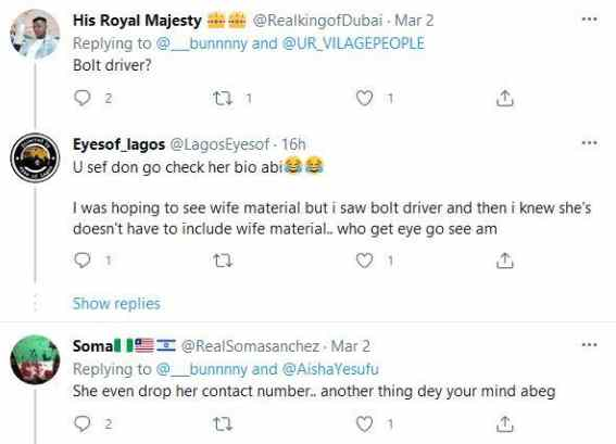 Lady leaves Nigerians in awe as she rocks corporate outfit to sell foodstuffs in Abuja