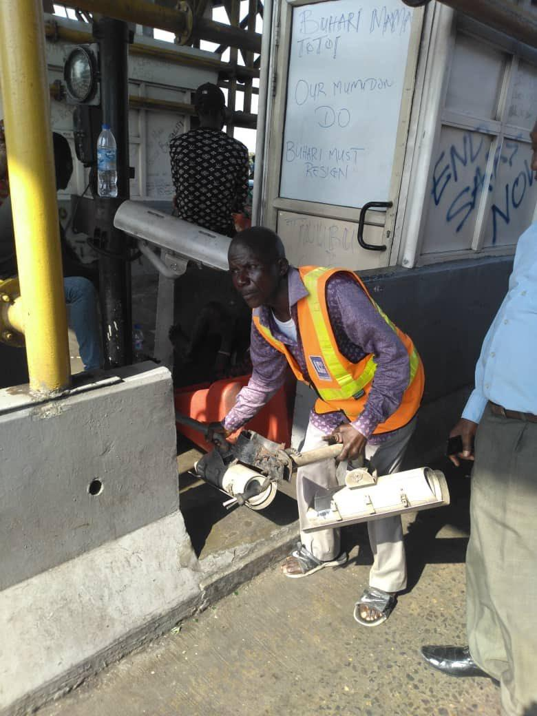 #LekkiMassacre: LCC denies Removing the CCTVs from Lekki Tollgate