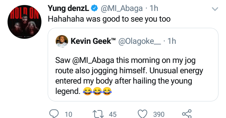 Man Reveals what he did When he ran into M.I while Jogging in the Morning