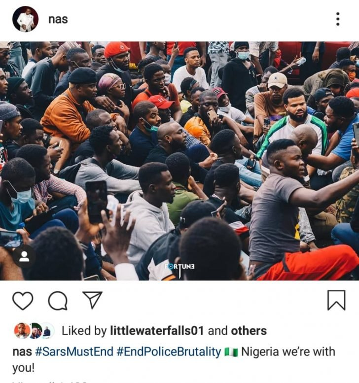 'Nigeria We Are With You' – Legendary American Rapper, Nas Reacts To #EndSAR Protests