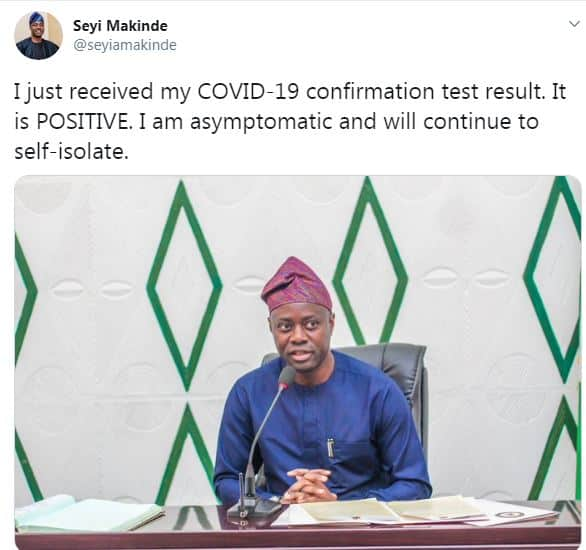 BREAKING: Oyo State Governor, Seyi Makinde tested Positive for Coronavirus