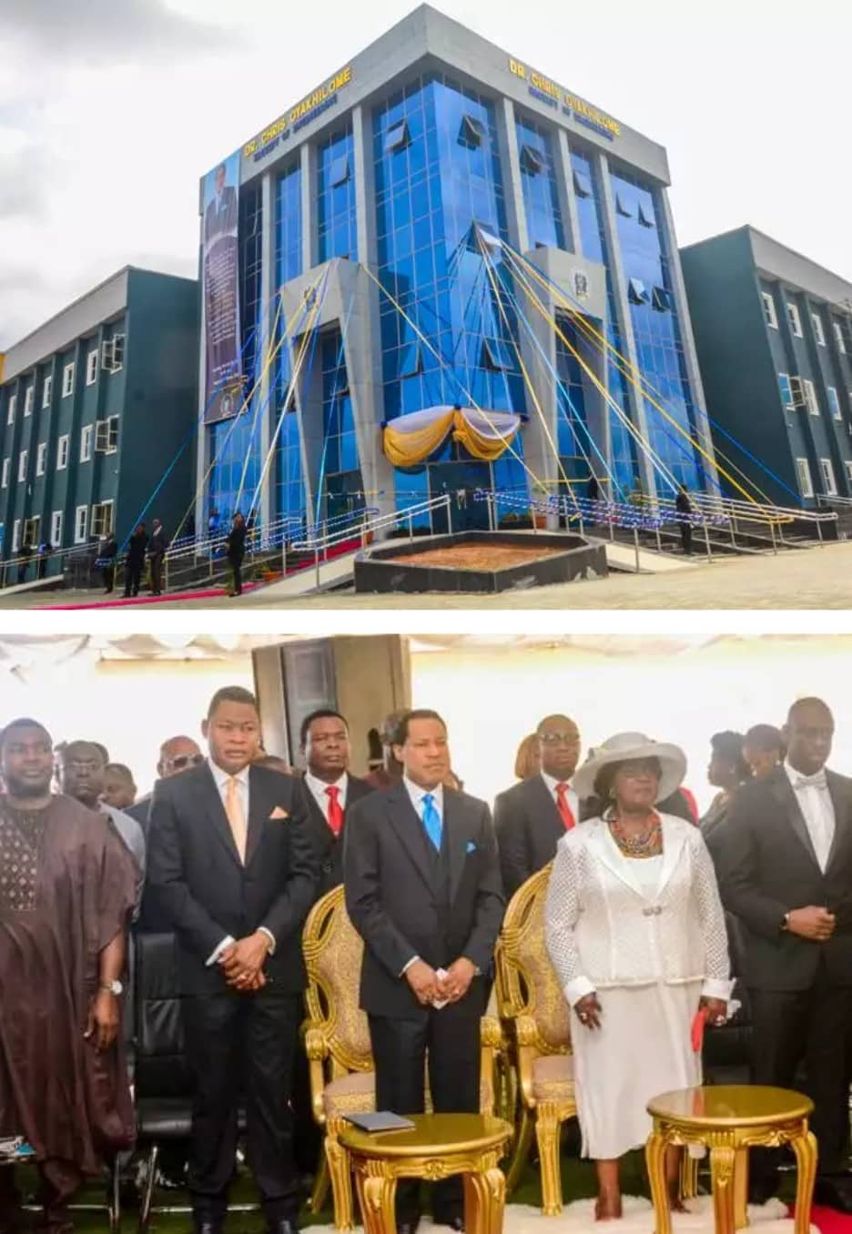 Pastor Chris Oyakhilome donates N1Billion Building to Benson Idahosa University