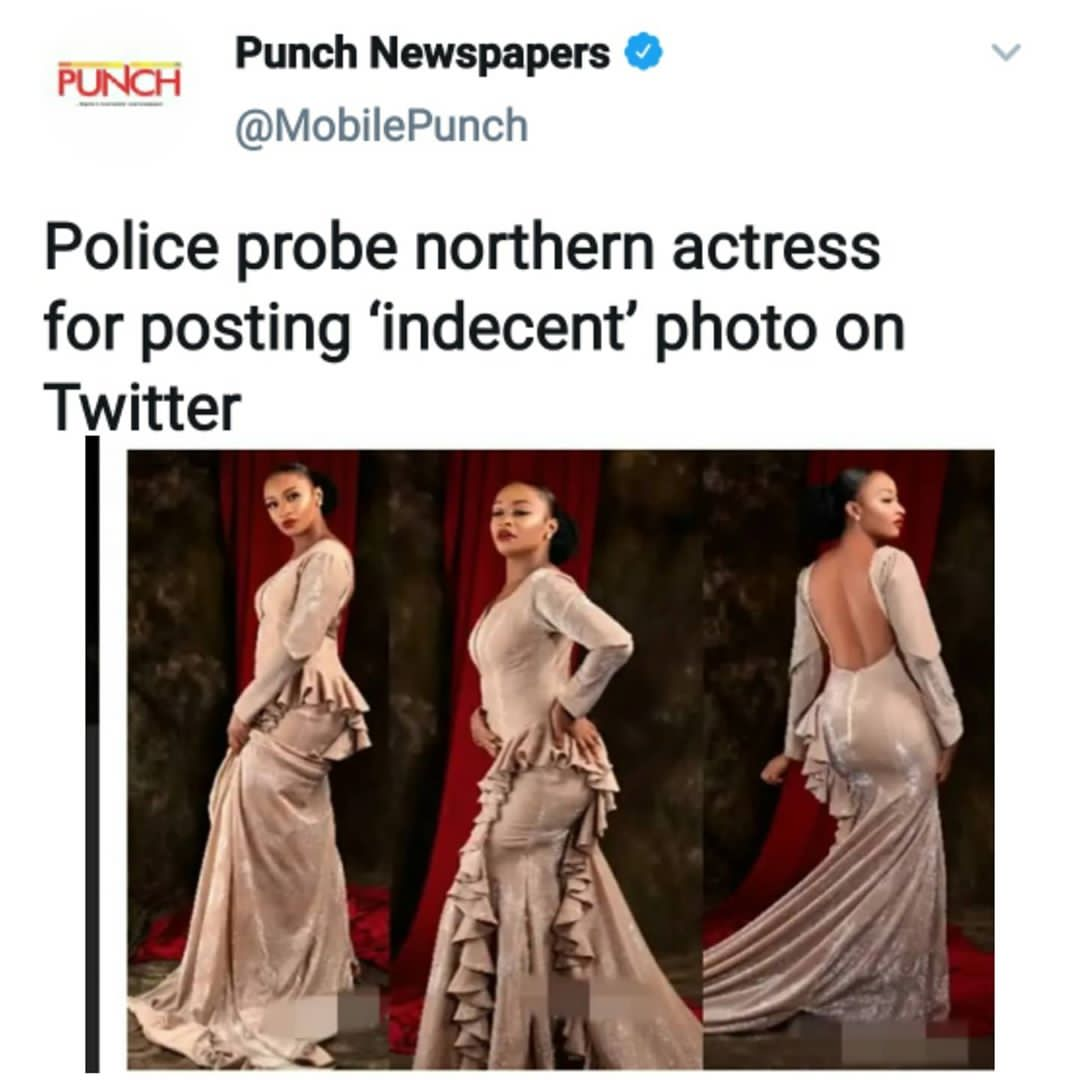 Police Probe Northern Actress for Posting 'Indecent' Photo on Twitter