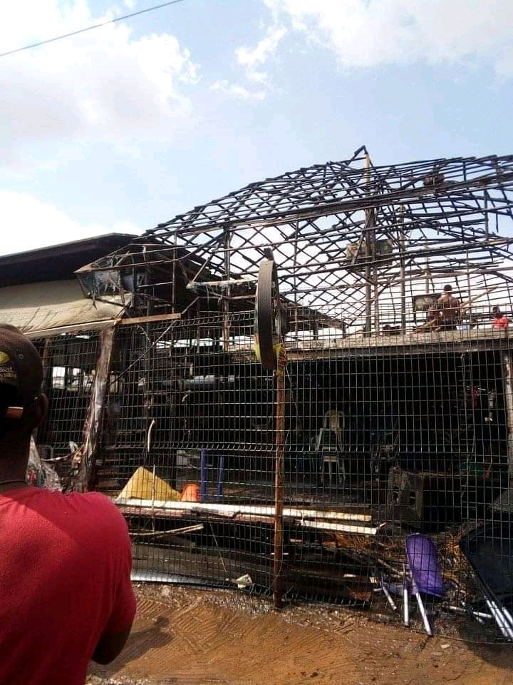 Popular Night Club, 3AD In Otta, Ogun State, Completely Razed By Fire