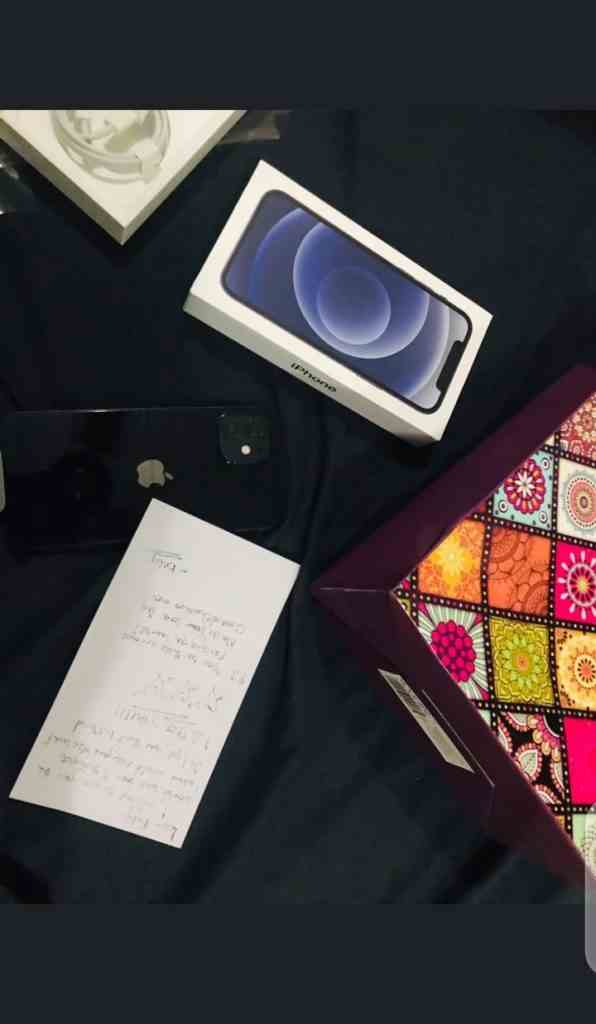 """Your love dey chookoo-chookoo me"" - Man sends love letter and iPhone 12 gift to lover"