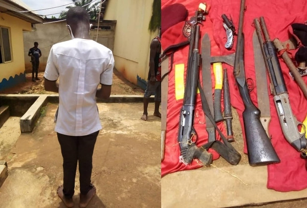 16Years Old Student Nabbed with a Double-Barrel Gun in School (See Photo)