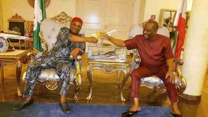 2023: Wike holds meeting with former Abia Governor, Kalu