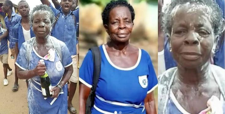 60Years Old Elizabeth Yamoah makes History as she Completes Junior Secondary School
