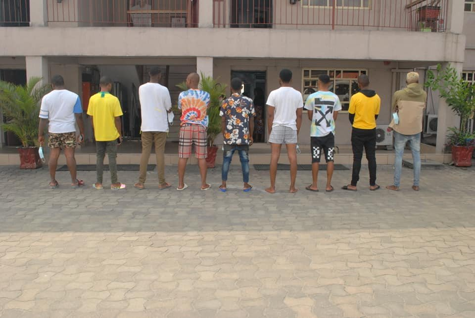 9 Suspected Yahoo Boys Arrested In Port Harcourt