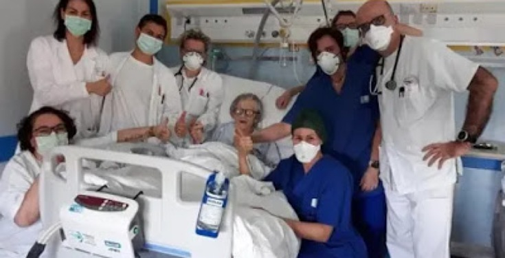 95Years Old Woman Becomes the oldest Woman in Italy to Recover from Coronavirus