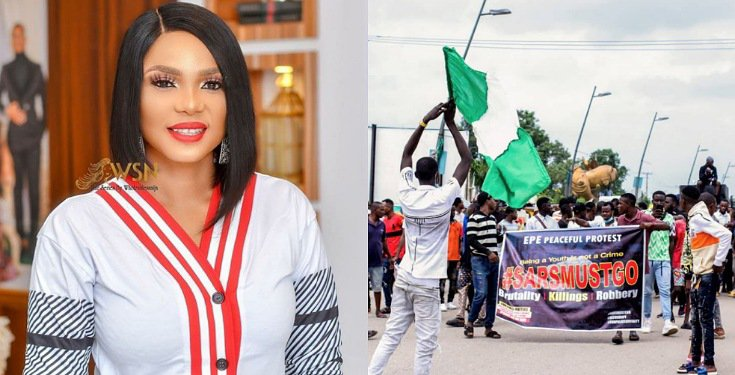Actress, Iyabo Ojo cries out Over Threat Message she got for Supporting #EndSARS Protest