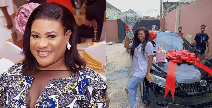 Actress Nkechi Blessing Gifts Sister Car Days After Buying Mom One