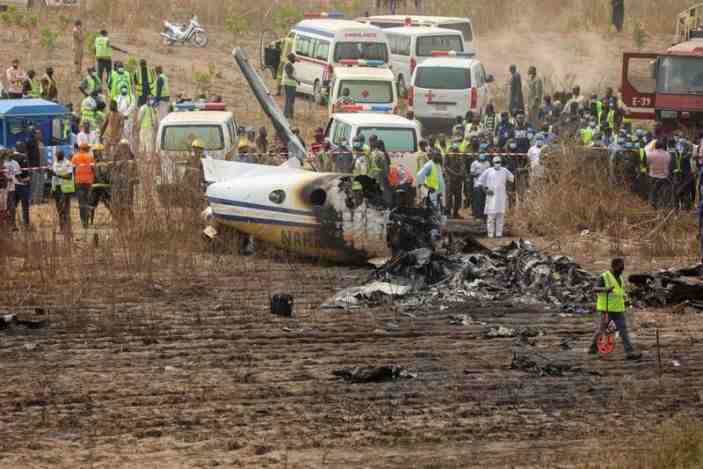 BREAKING!: All Passengers onboard Feared Dead as Military Aircraft Crash in Abuja (Watch Video)