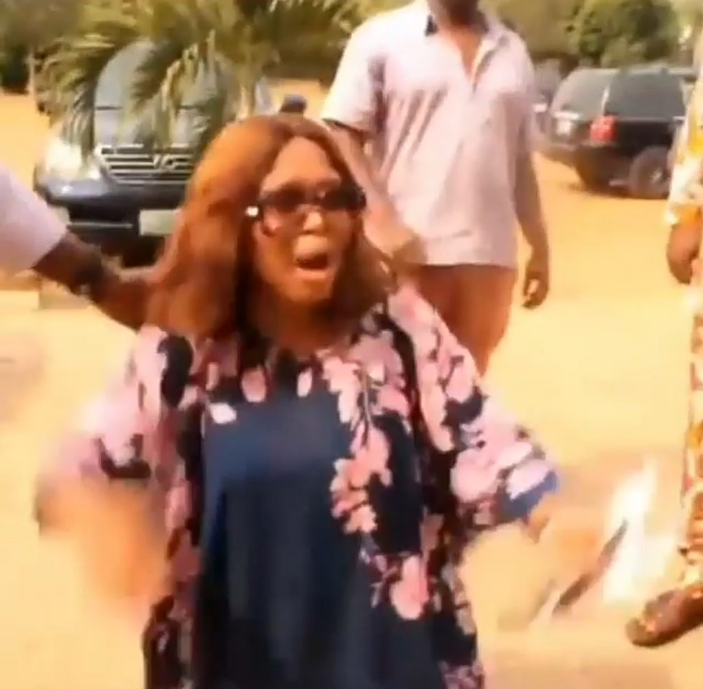 Angry wife disrupts her husband's secret wedding to his side chick