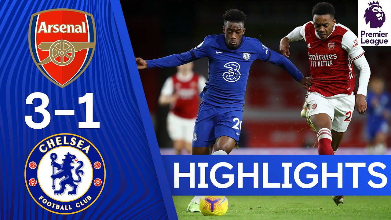 VIDEO: Arsenal Vs Chelsea 3-1 Goals Highlights (Watch Video)