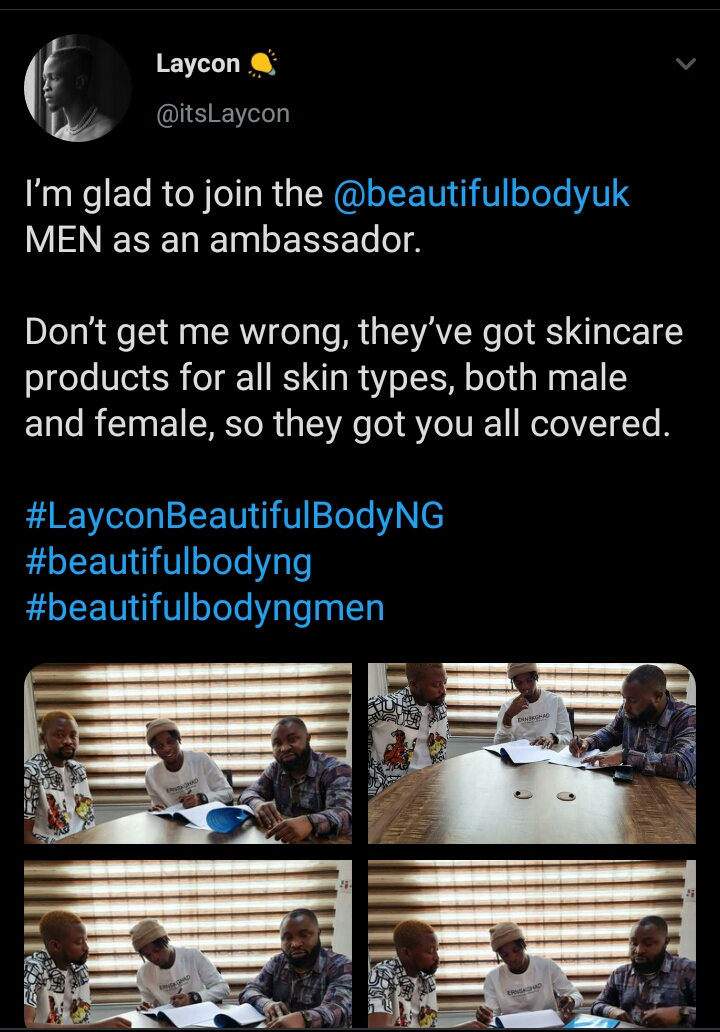 Bbnaija 2020 Winner, Laycon Inks New Endorsement Deal With Skin Care Company