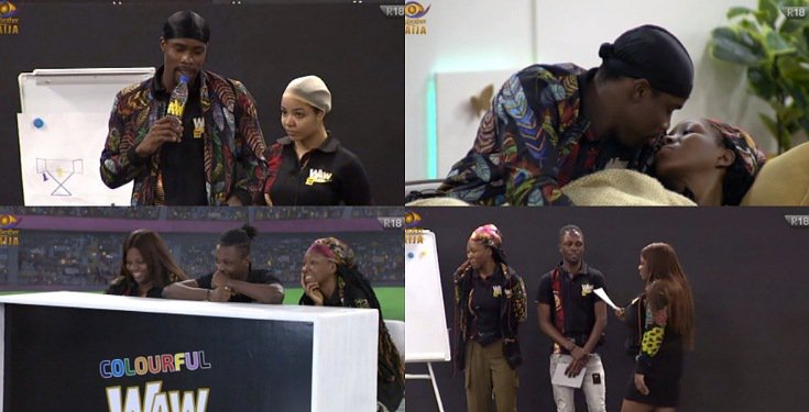 #BBNaija Day 65: Laycon's team win N1M, the BDSM Chatroom, Housemates reveal their Crush