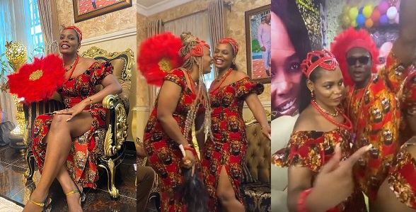 #BBNaija: Kaisha's Family Throw Igbo-Themed Homecoming Party To Welcome Her Home (Video)