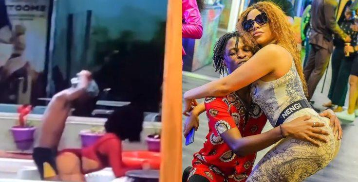 #BBNaija: Laycon rocks Nengi as Housemates enjoy the Jacuzzi (Watch Videos)