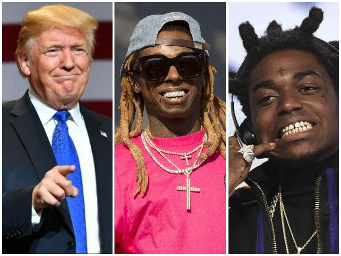 BREAKING NEWS!! Trump Pardons Lil Wayne, Kodak Black From Jail Before Going Off As The President Of The US