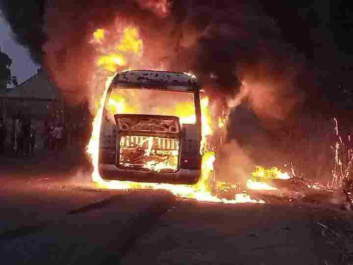 BREAKING: NPFL: Bus carrying Wikki Tourists players bursts into flames
