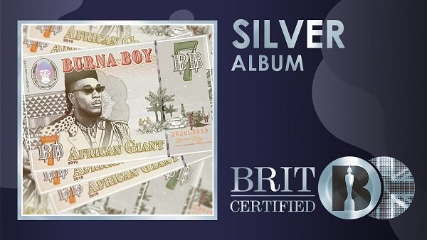 Burna Boy Becomes The First Nigerian With A Certified Silver Album In UK
