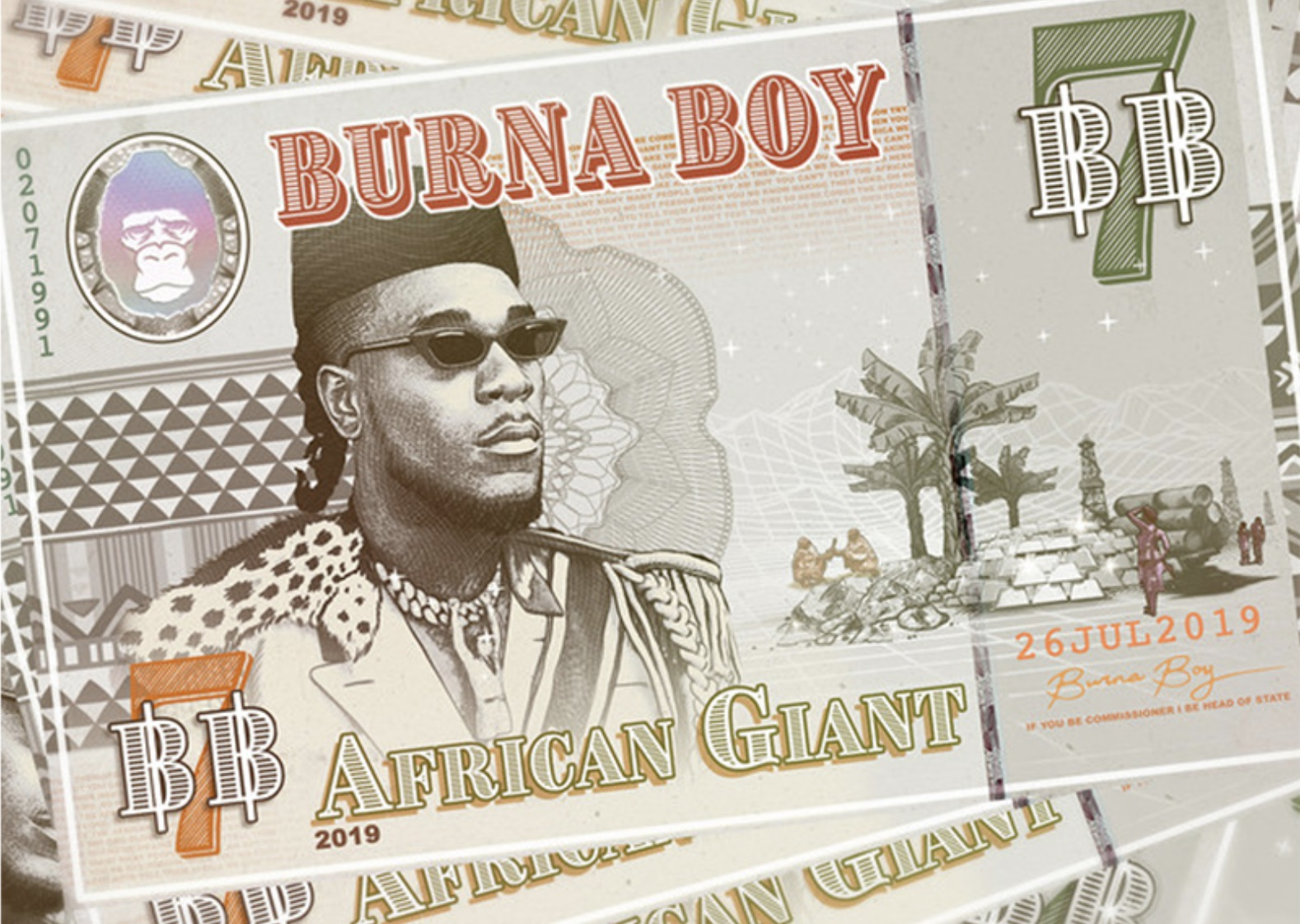 Burna Boy's 'African Giant' Becomes The 1st Certified Naija Album in The UK!