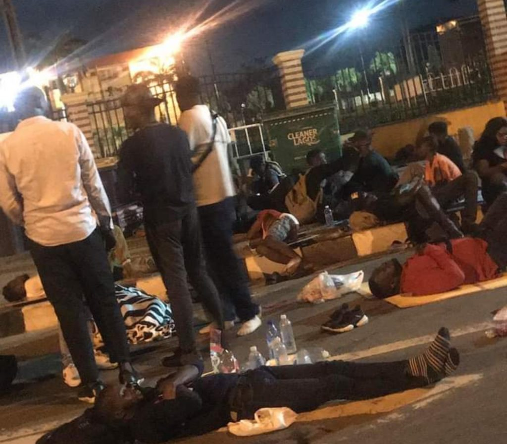 End SARS: Celebrity, Others Spend Night At Lagos Assembly