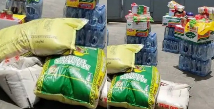 COVID-19: Nigerian Landlord Surprised Tenants with Free Food Items