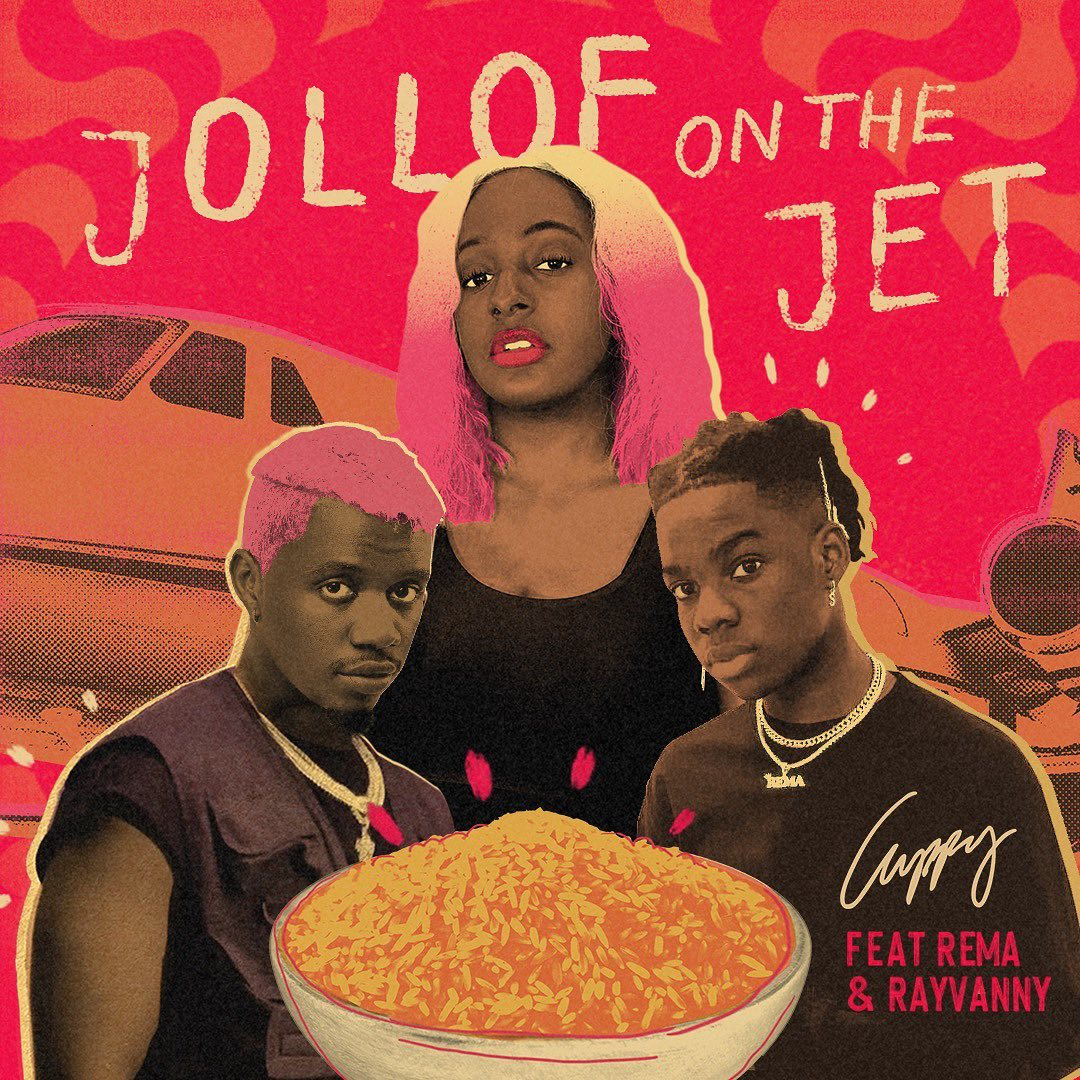 Cuppy Ft. Rema & Rayvanny - Jollof On The Jet