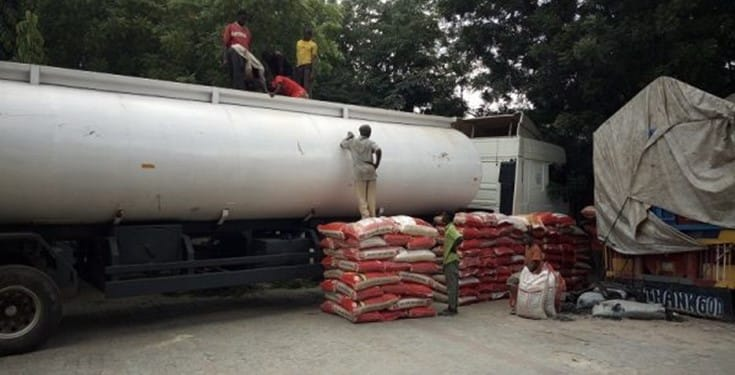 Customs Impounds 250 Bags of Rice Concealed in Fuel Tanker In Kano State