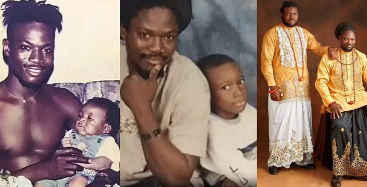 Photos: Daddy Showkey celebrates his son as he turns 23