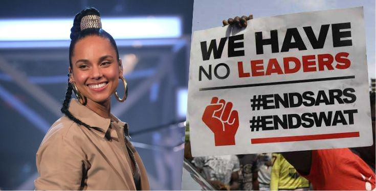 'Don't Give Up' - Alicia Keys Lends Voice To #EndSARS Protest
