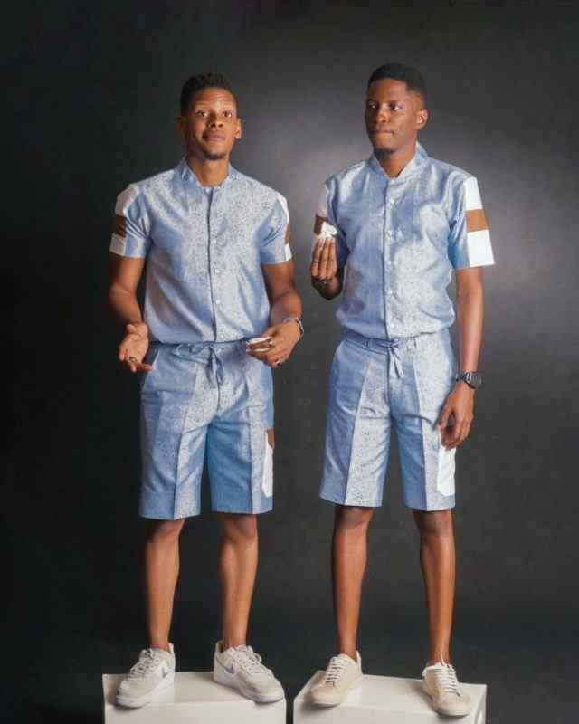 Elozonam and his twin brother recreates childhood photos on their 35th birthday